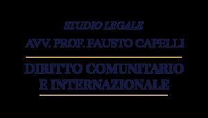Studio Legale a Milano - Avvocato Prof. Fausto Capelli specializzato in diritto comunitario e internazionale